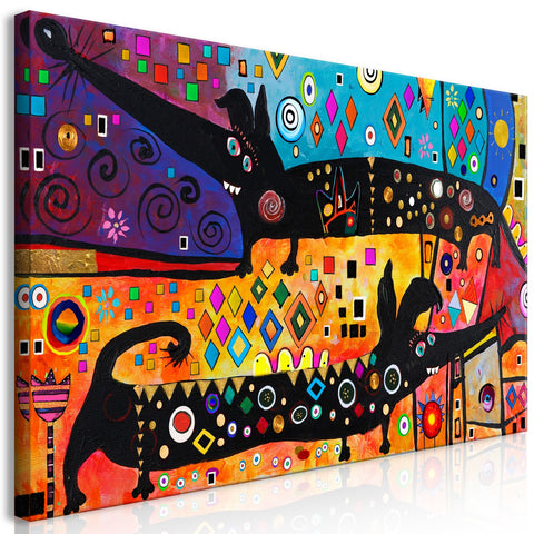 Canvas Print - Extravagant Dogs (1 Part) Wide