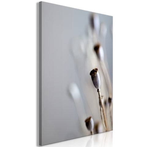 Canvas Print - Dried Poppies (1 Part) Vertical
