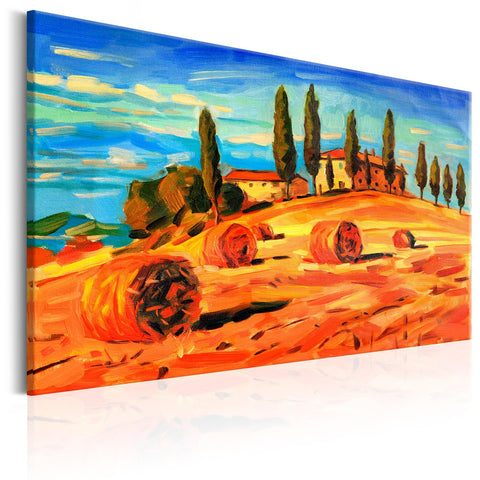 Canvas Print - August in Tuscany
