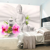Wallpaper - Buddha and Orchids