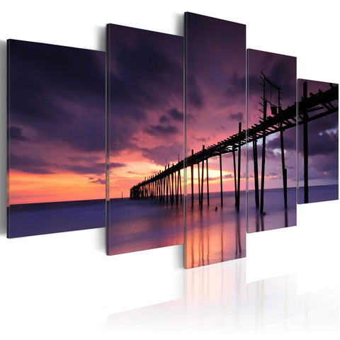 Canvas Print - Coast before the dusk
