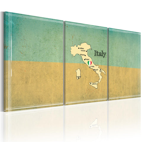 Canvas Print - map: Italy