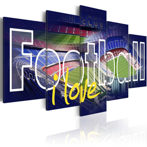 Canvas Print - Football My Love