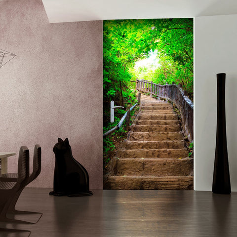 Photo wallpaper on the door - Photo wallpaper – Stairs from nature I