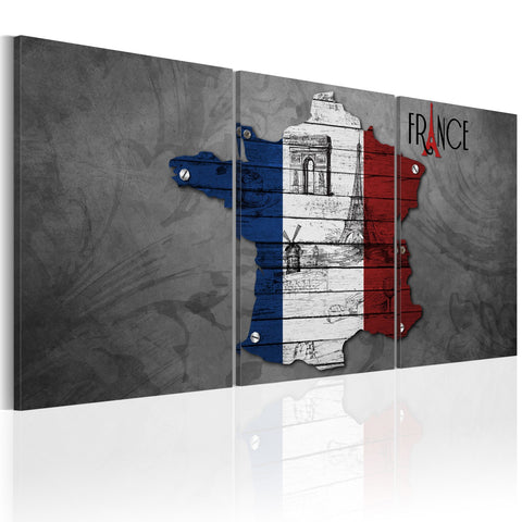 Canvas Print - All about France