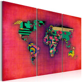 Canvas Print - The World is mine - triptych