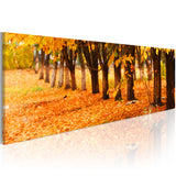 Canvas Print - Park covered with golden leaves
