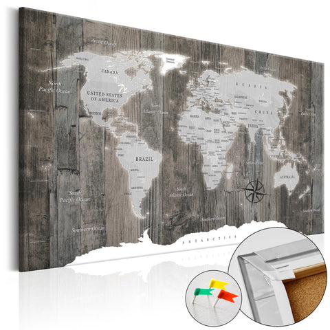 Decorative Pinboard - World of Wood [Cork Map]