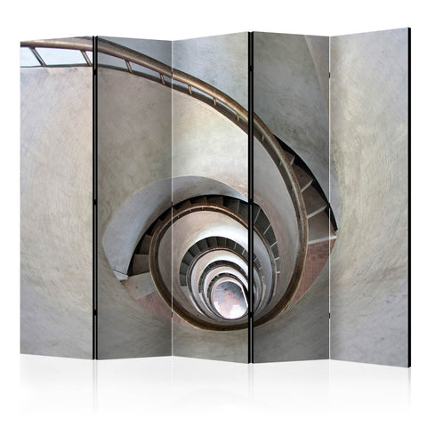 Room Divider - White spiral stairs II [Room Dividers]