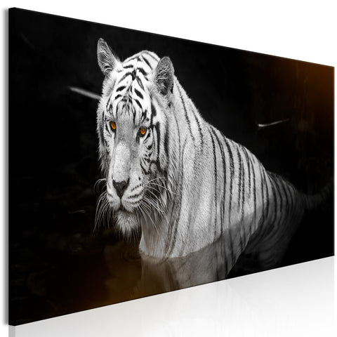Canvas Print - Shining Tiger (1 Part) Orange Narrow