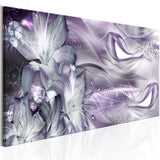 Canvas Print - Lilies and Waves (1 Part) Narrow Pale Violet