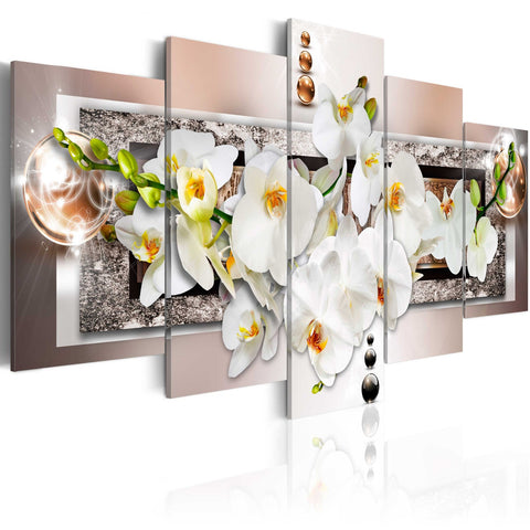 Canvas Print - White abstract orchid