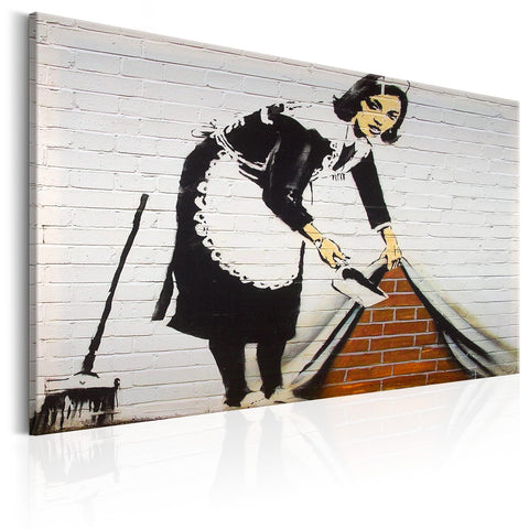 Canvas Print - Maid in London by Banksy