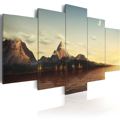 Canvas Print - Sunrise in the mountains