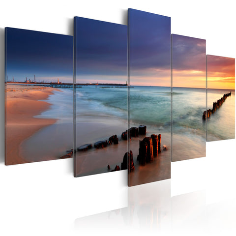 Canvas Print - Dawn by the sea