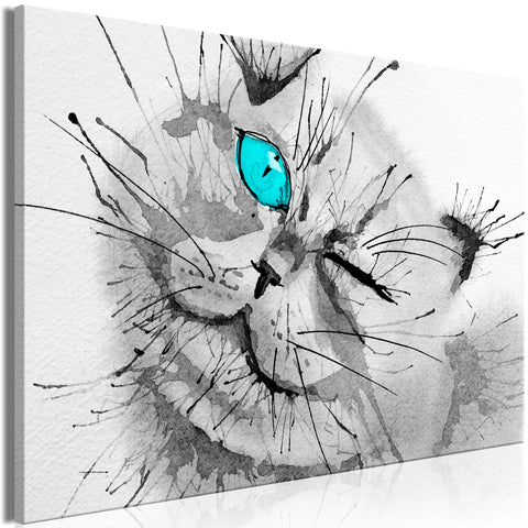 Canvas Print - Happy Look (1 Part) Wide Blue