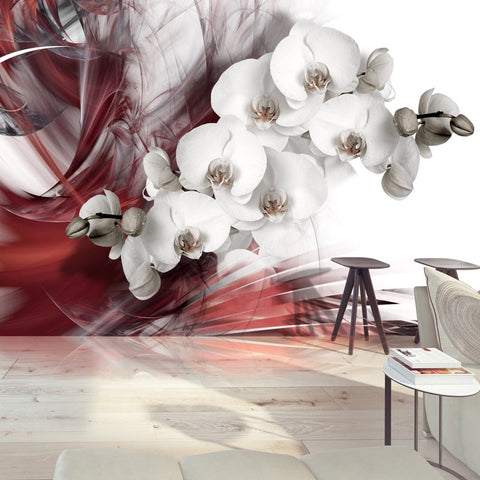 Wallpaper - Orchid in red