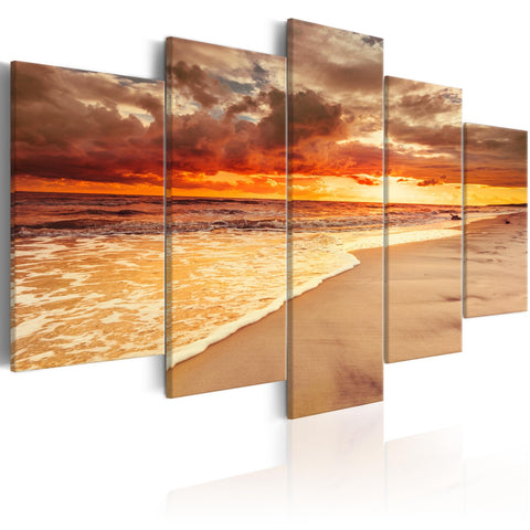 Canvas Print - Sea: Beautiful Sunset
