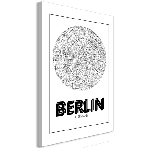 Canvas Print - Retro Berlin (1 Part) Vertical
