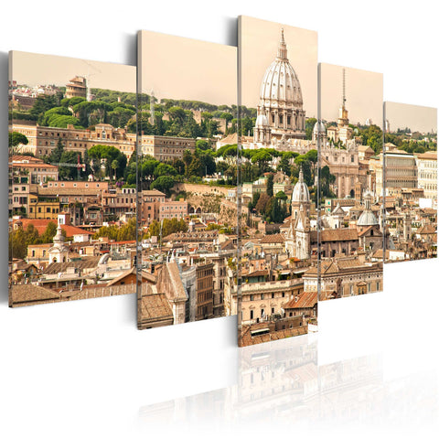 Canvas Print - The roofs of the Eternal City