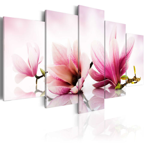 Canvas Print - Magnolias: pink flowers