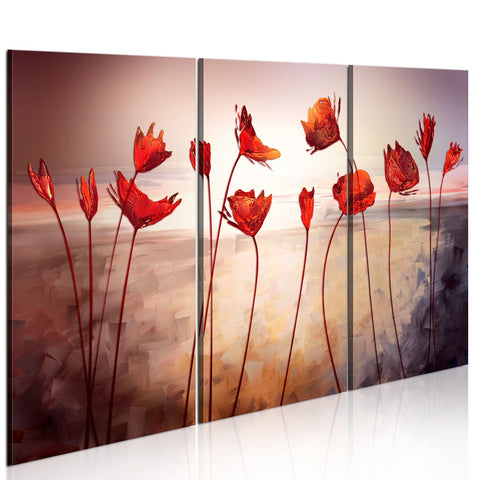 Canvas Print - Bright red poppies