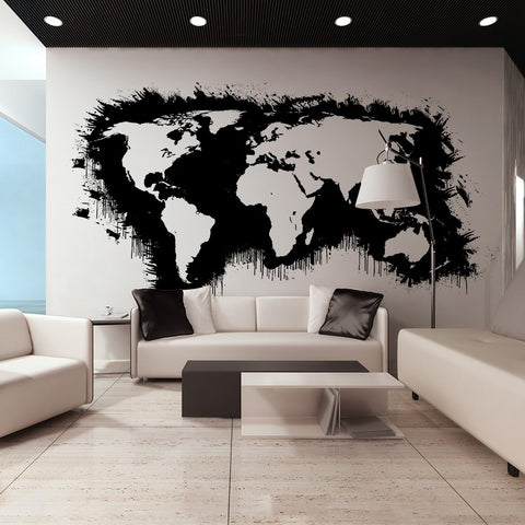 XXL wallpaper - White continents, black oceans...