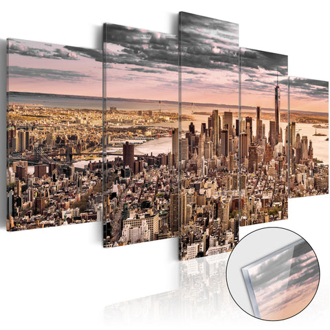 Acrylic Print - New York City: Morning Sky [Glass]