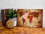 DIY canvas painting - World Map (Earth Colours)