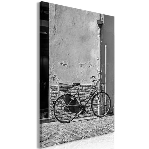 Canvas Print - Old Italian Bicycle (1 Part) Vertical