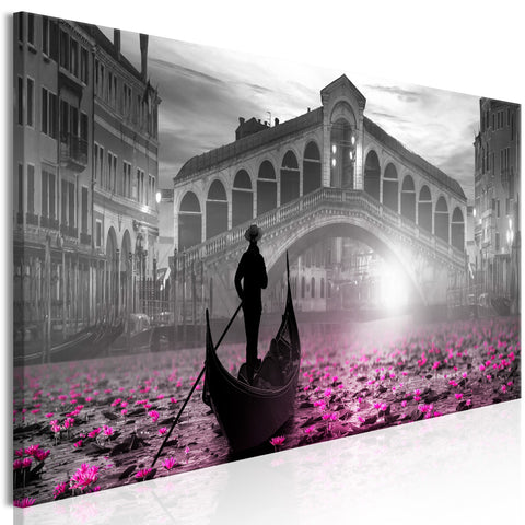 Canvas Print - Magic Venice (1 Part) Narrow Grey