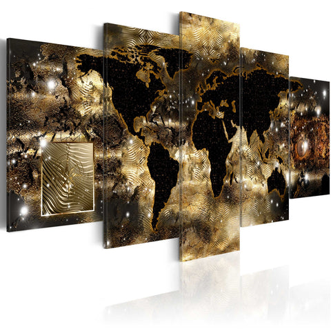 Canvas Print - Continents of bronze