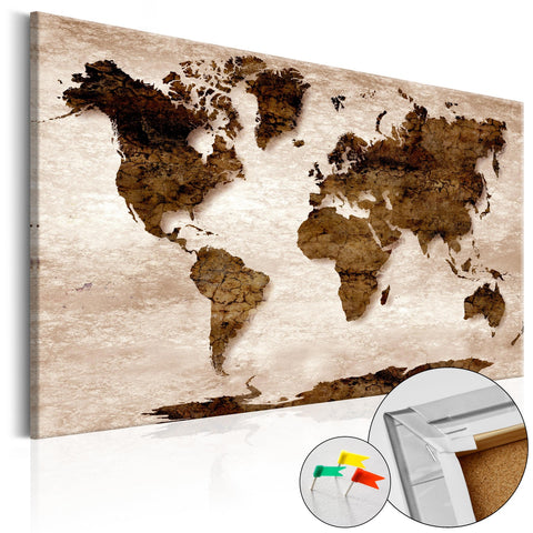 Decorative Pinboard - The Brown Earth [Cork Map]