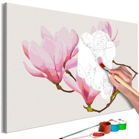 DIY canvas painting - Floral Twig