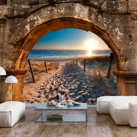 Wallpaper - Arch and Beach