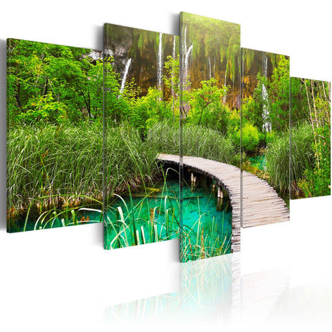 Canvas Print - Emerald Trail