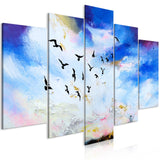 Canvas Print - Autumn Is Coming (5 Parts) Wide