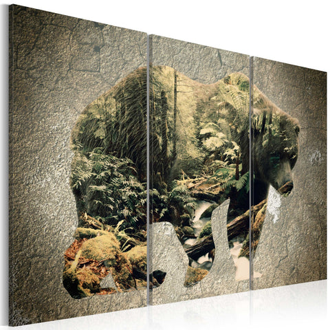 Canvas Print - The Bear in the Forest