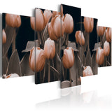 Canvas Print - Tulips in sepia