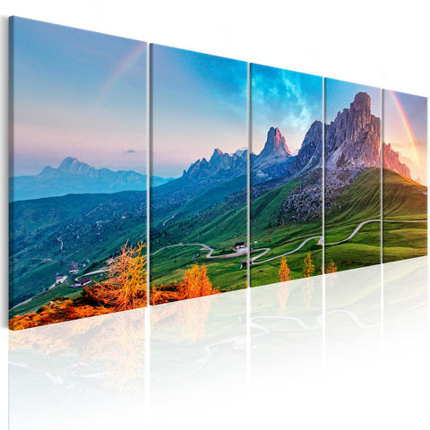 Canvas Print - Rainbow in the Alps I