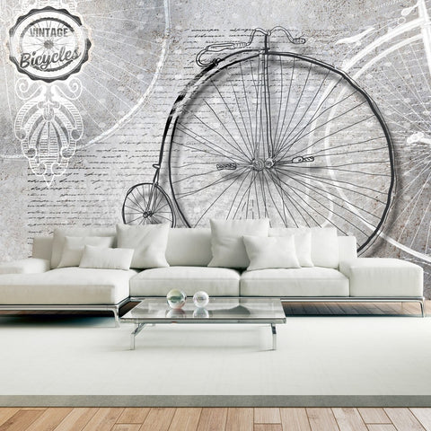 Wallpaper - Vintage bicycles - black and white