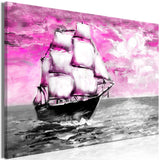 Canvas Print - Spring Cruise (1 Part) Wide Pink