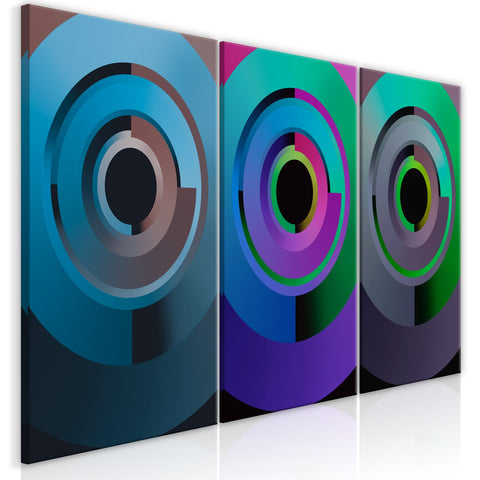 Canvas Print - Gradient Circles (3 Parts)