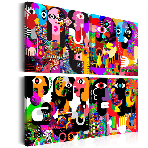 Canvas Print - Abstract Conversations