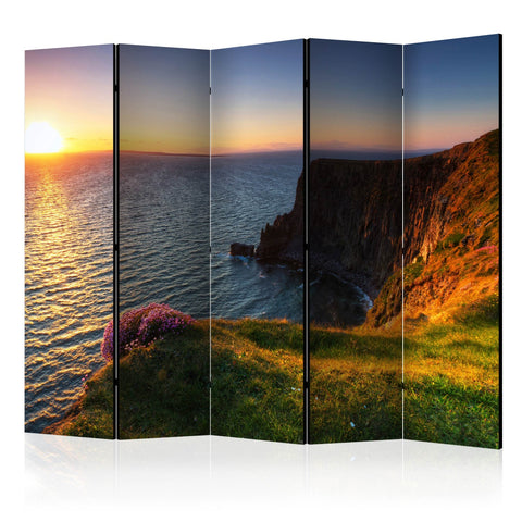 Room Divider - Sunset: Cliffs of Moher, Ireland II [Room Dividers]