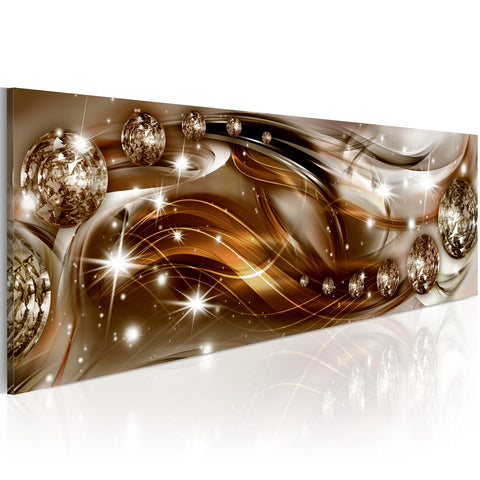 Canvas Print - Ribbon of Bronze and Glitter