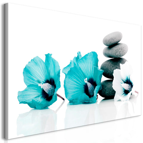 Canvas Print - Calm Mallow (1 Part) Turquoise
