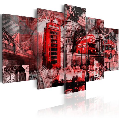 Canvas Print - London collage - 5 pieces
