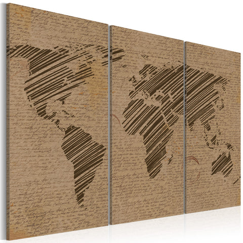 Canvas Print - Notes from the World - triptych