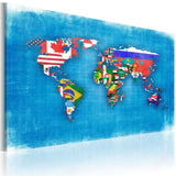 Canvas Print - Flags of the World